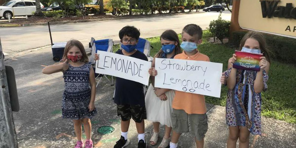 COVID-19 leaves family of 5 with lemonade stand as only source of income