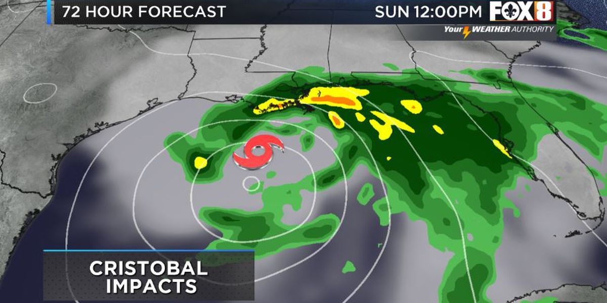 Cristobal impacts expected Sunday