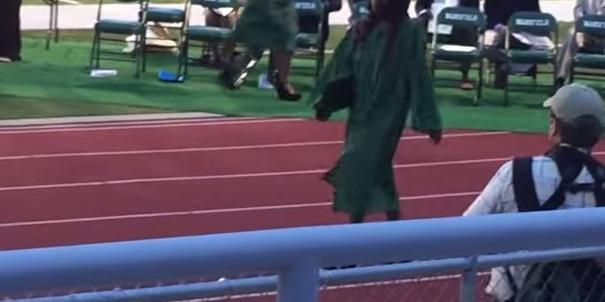Feet don't fail me now! Graduate takes tough first step on journey after high school