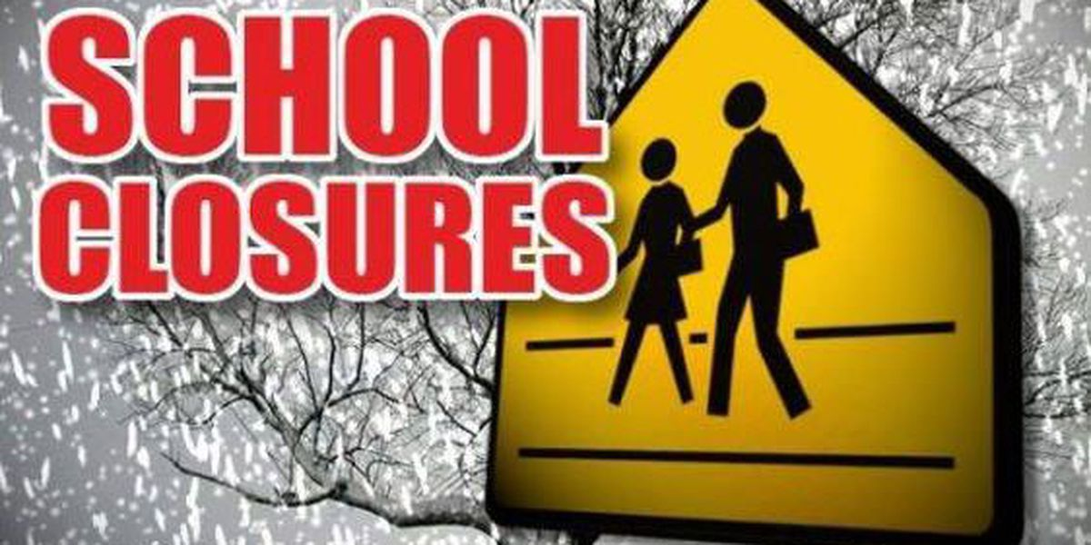Area school closures announced due to winter weather advisory
