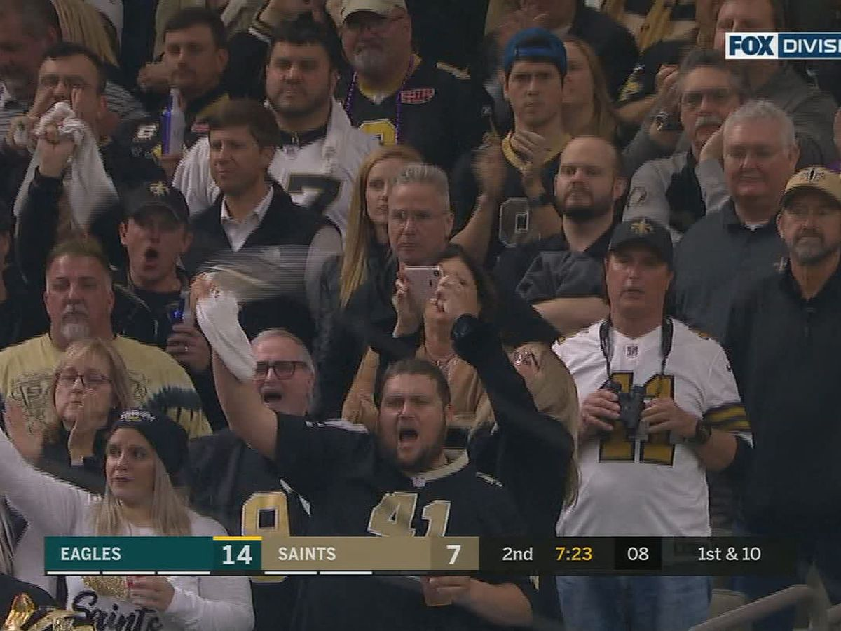 High decibels recorded in the Superdome for Saints vs. Eagle match up