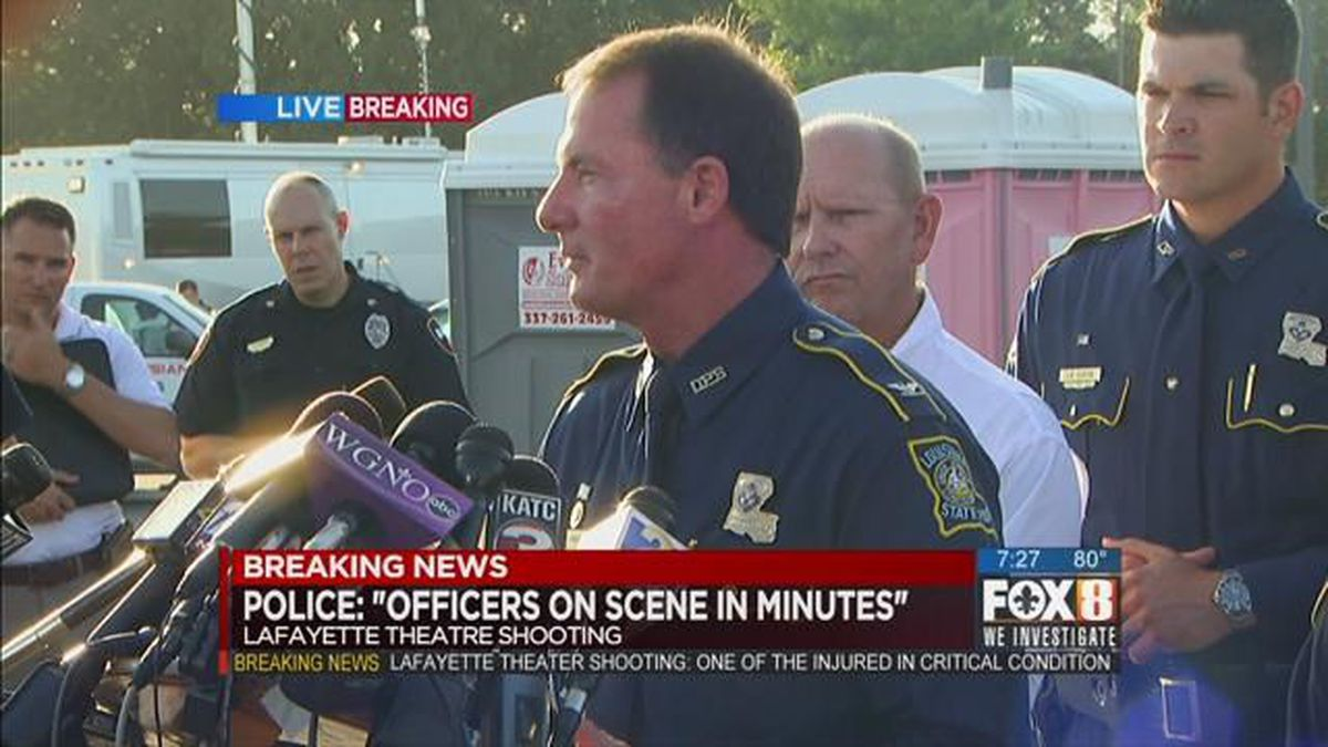 Press conference: Suspect, victims identified in Lafayette theater