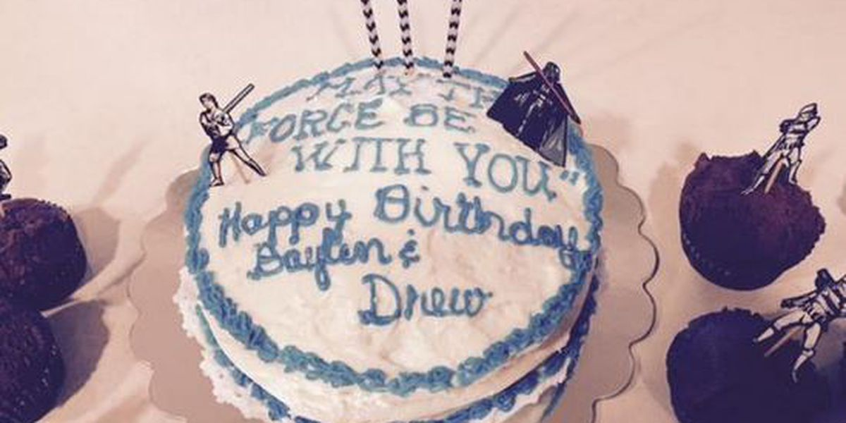 Drew Baylen Brees Celebrate Birthdays With Star Wars Cake