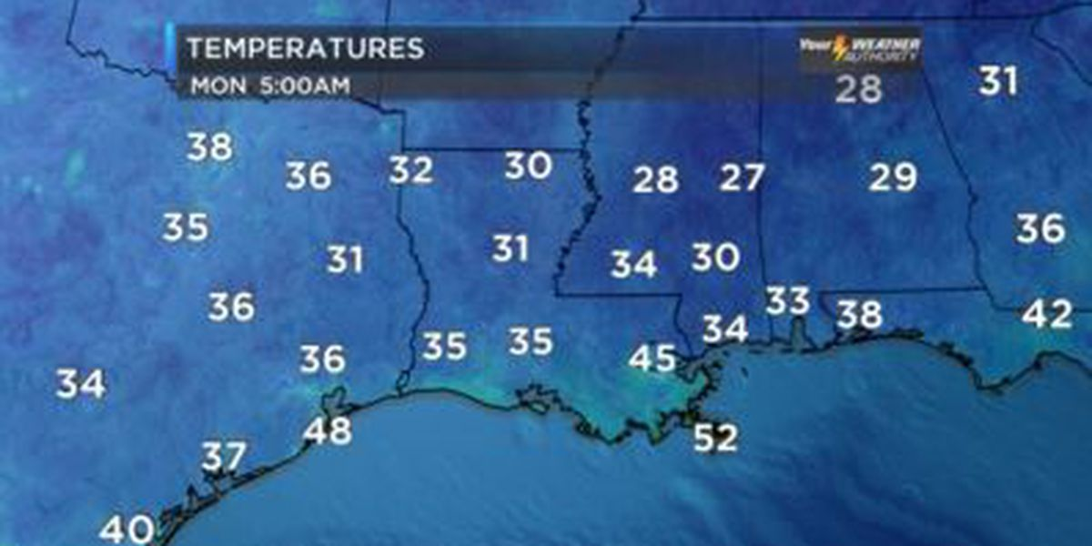 First freeze of the season is expected over much of the area