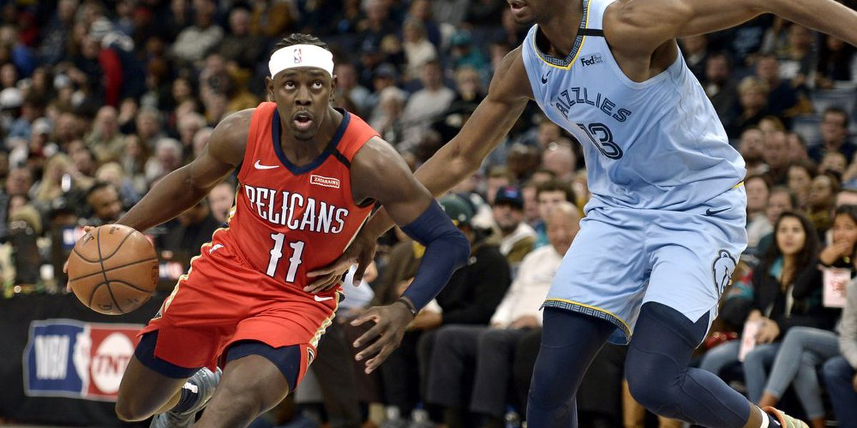 Jrue Holiday scores 36, Pelicans snap Grizzlies' win streak