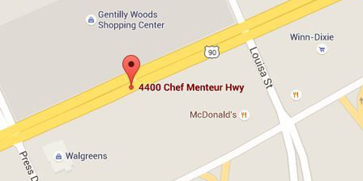 Police investigate a shooting on Chef Menteur