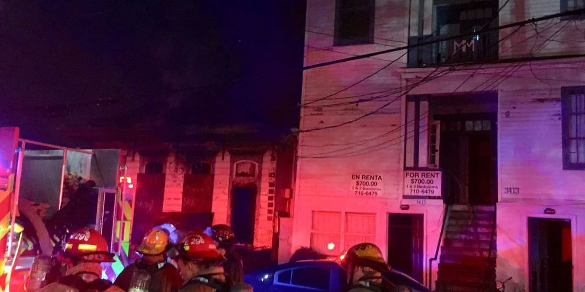 16 displaced after three-alarm fire Uptown
