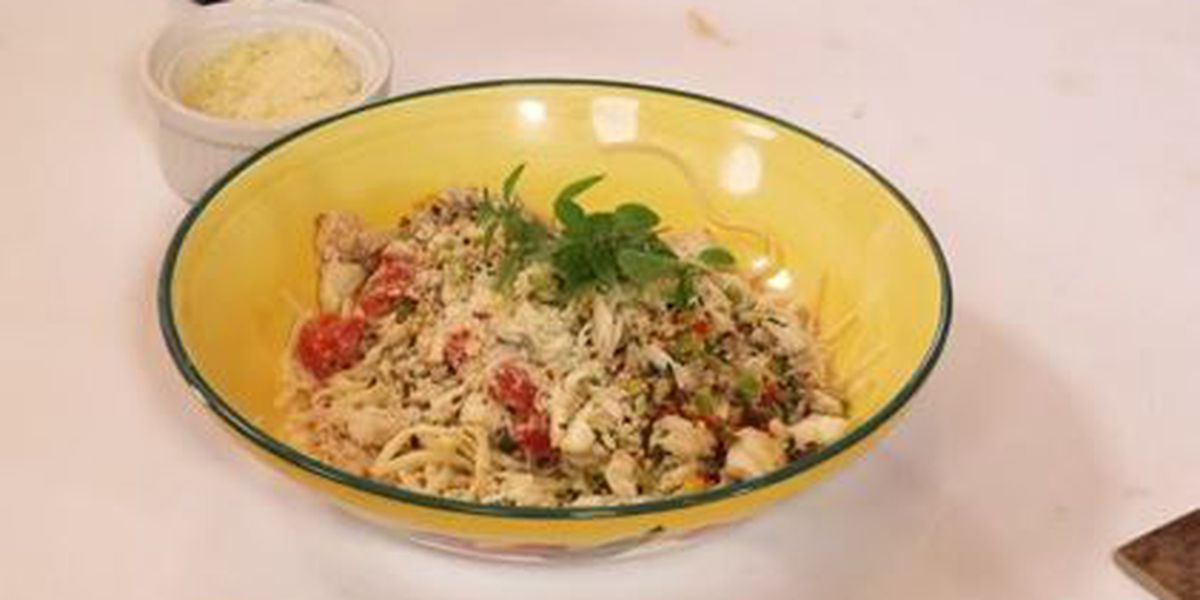 Chef John Folse: Crabmeat and tomato basil sauce with linguine
