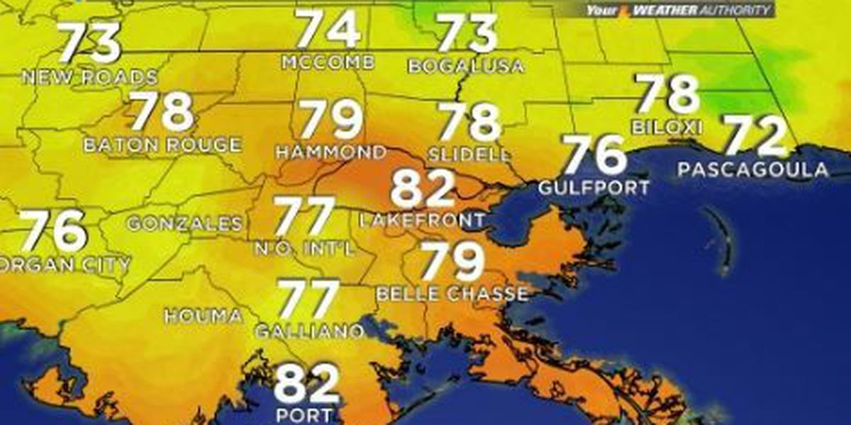 Your Weather Authority: Warm, humid, mostly dry
