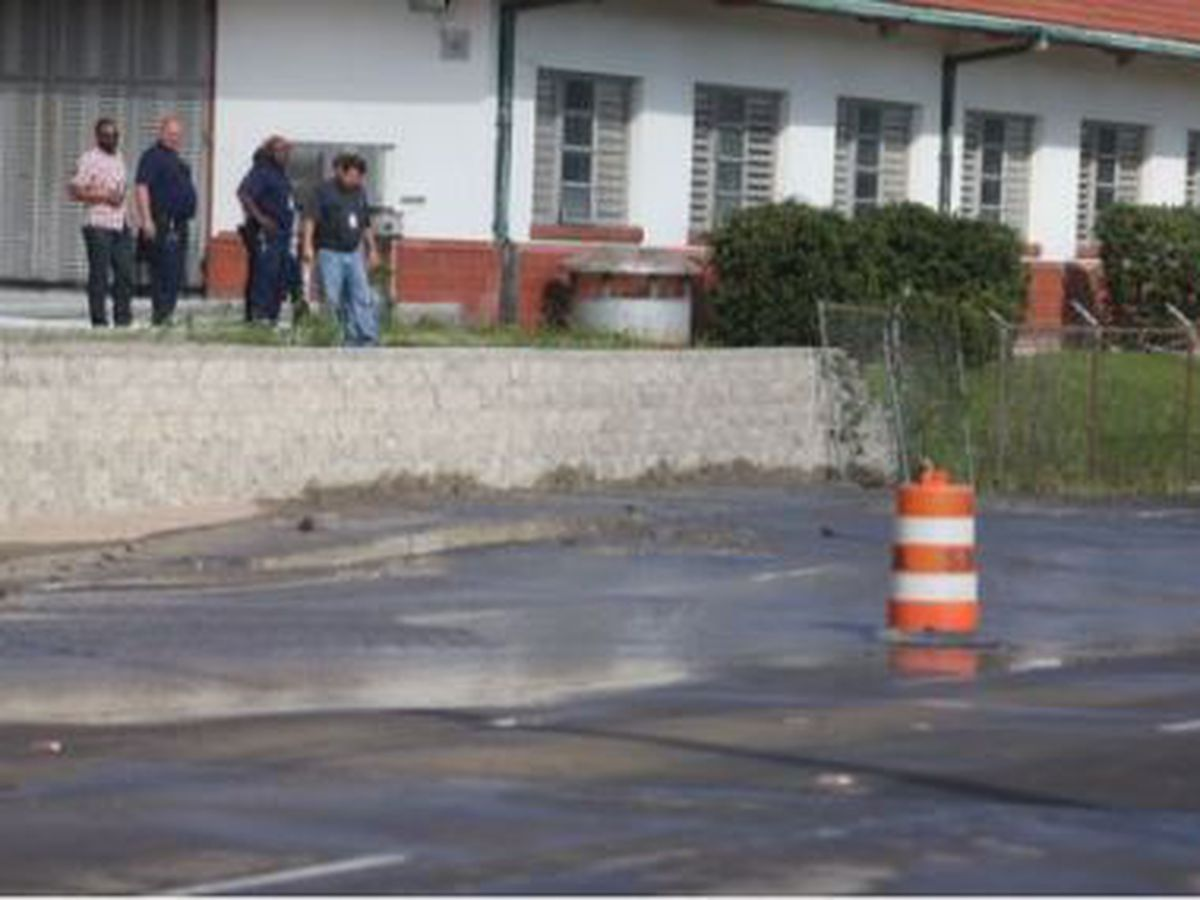 Water main break outside S&WB plant closes Claiborne Avenue