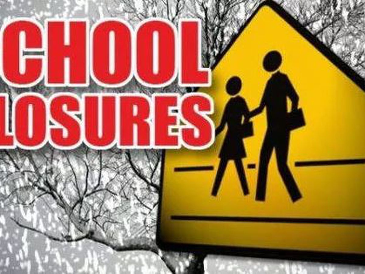 Schools closures announced ahead of Thursday's severe weather threat
