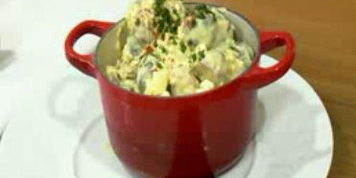 Chef John Folse: Red, white and blue potato salad