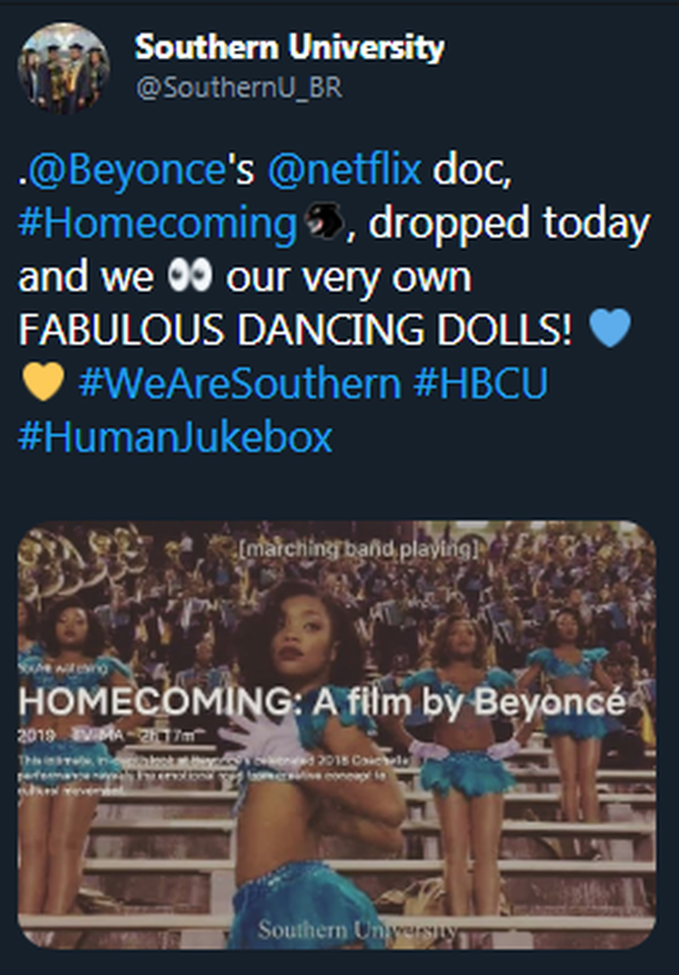 Southern University featured in Beyoncé' Netflix documentary