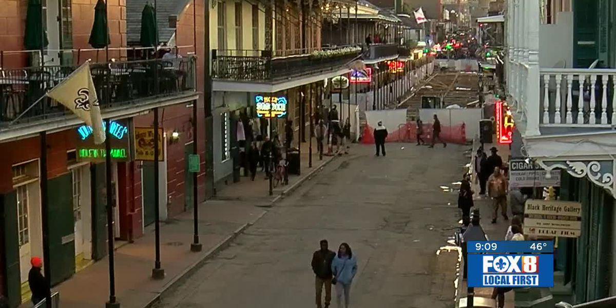 Saints fans watching in French Quarter dejected after stunning loss