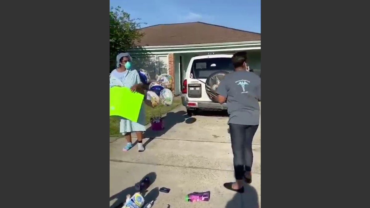 New Orleans East mother returns home to parade after recovery from COVID-19