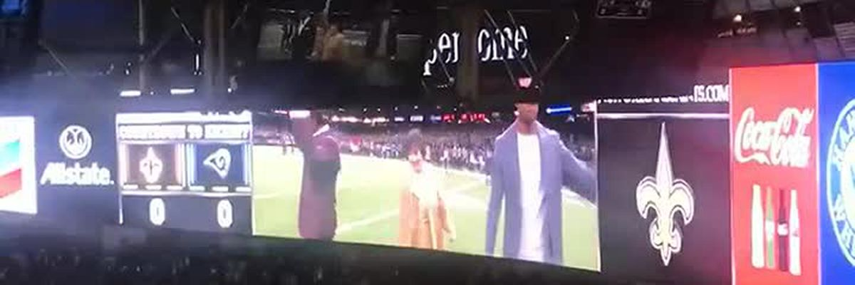 Gayle Benson leads Who Dat chant