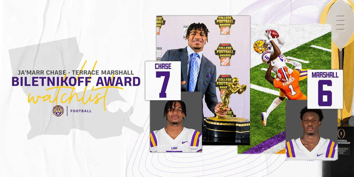 Chase and Marshall named to Biletnikoff Award watch list
