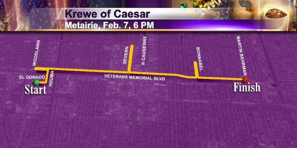 Sat 2/7 Metairie 6pm Krewe of Caesar