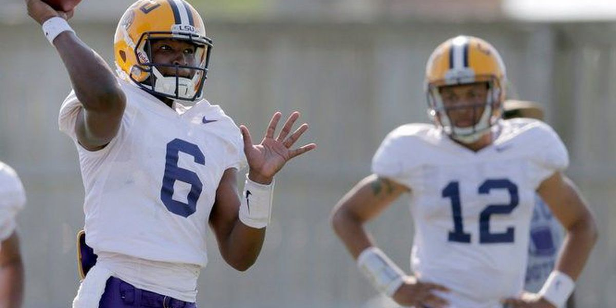 LSU quarterbacks finish spring on high note