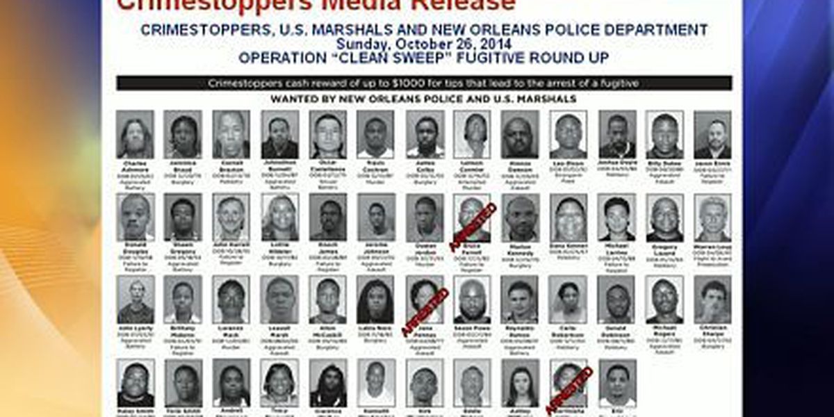 Operation Clean Sweep works to bring fugitives to justice