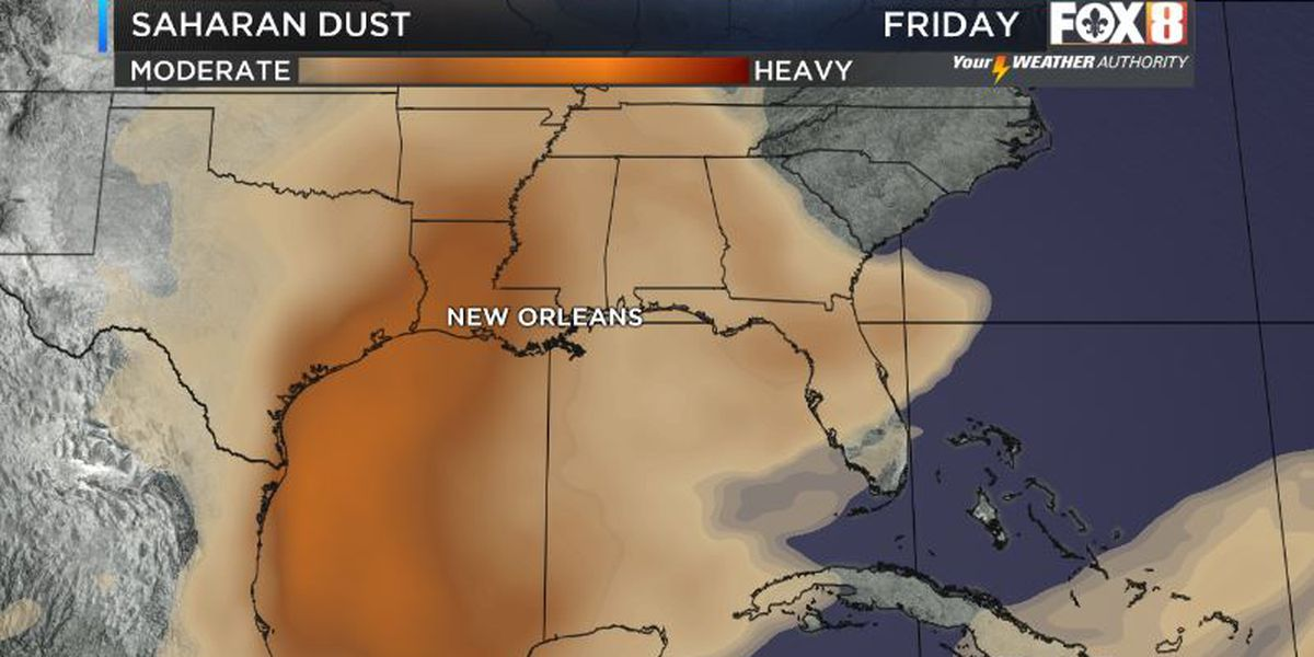 Saharan dust to blanket area late week