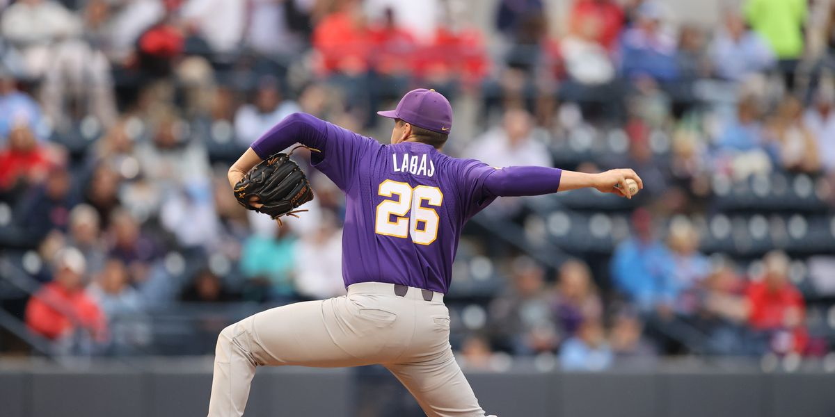 Labas throws first complete game of season as LSU takes series over Ole Miss