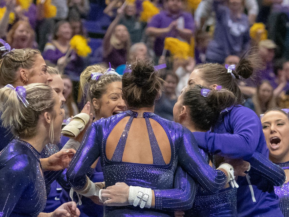 LSU gymnastics ends regular season ranked No. 3