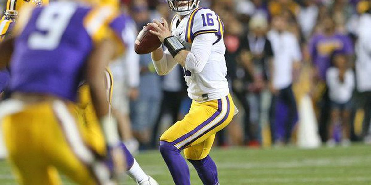Spring game doesn't reveal starter at QB for LSU