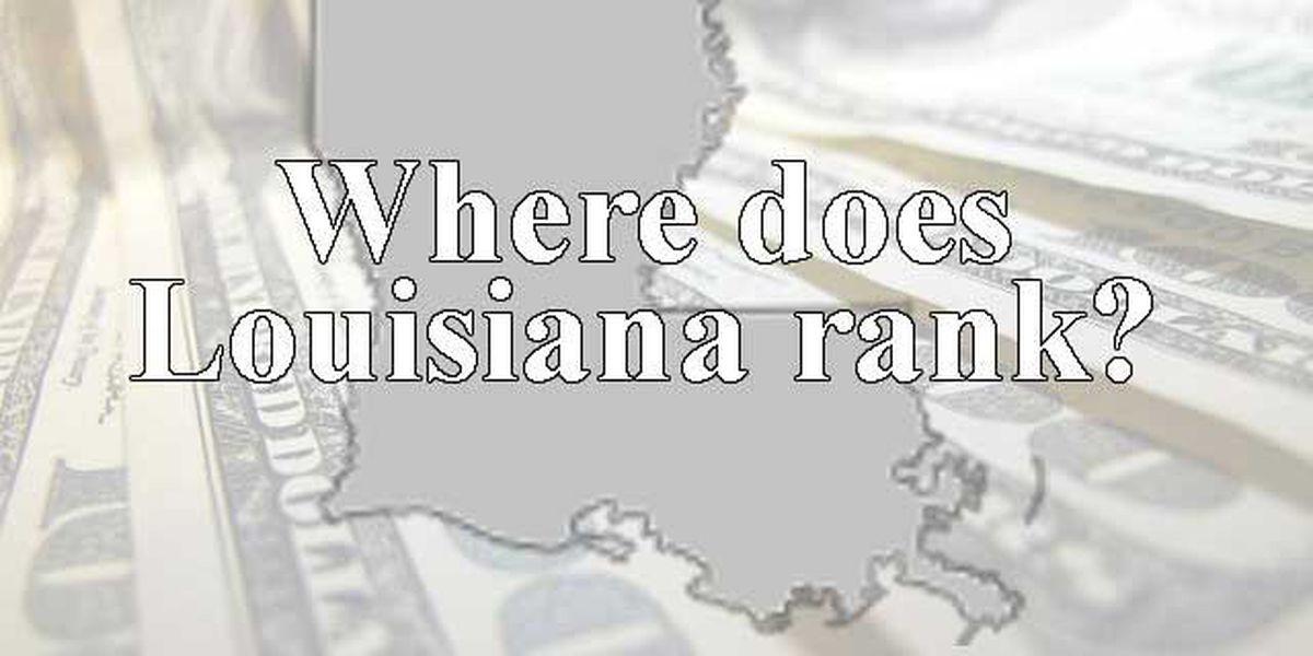 Louisiana ranks near bottom in economic health