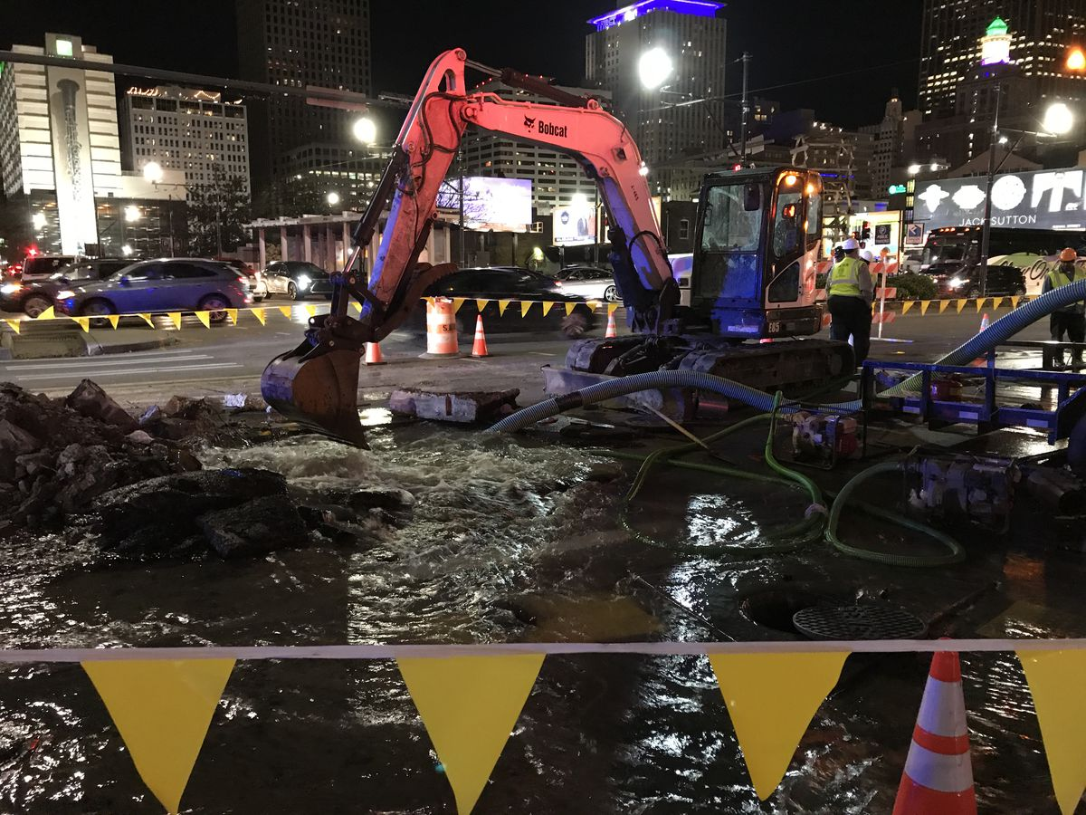 CBD intersection where water main broke may snarl morning traffic