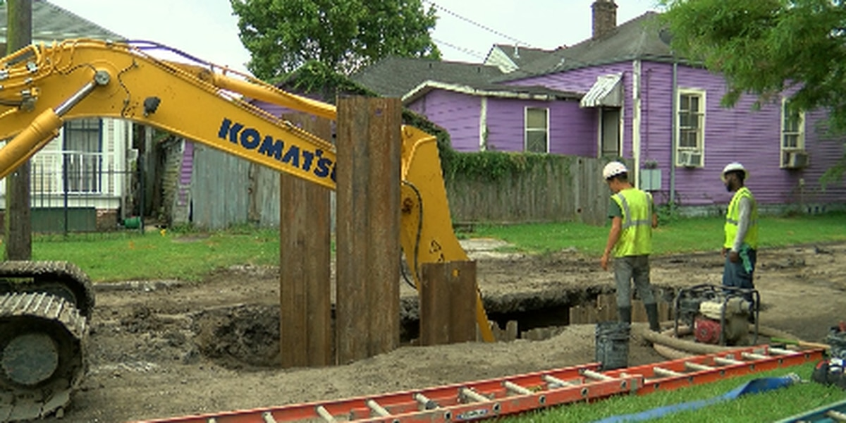 Uncovered manhole, growing hole from sewer break raise safety concerns