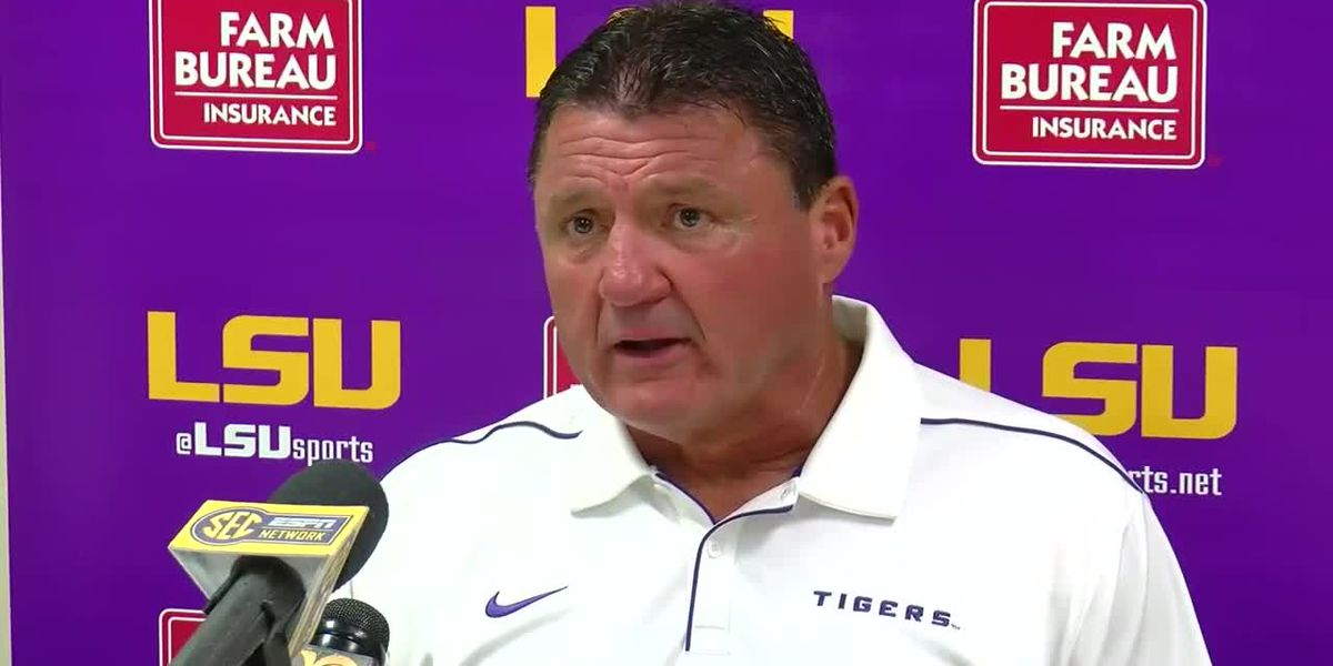 POST GAME: Ed Orgeron - LSU vs Vandy