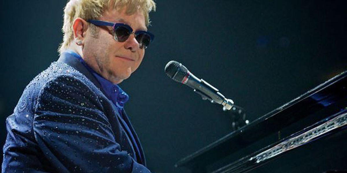 Elton John hit by beads during Las Vegas show, according to TMZ