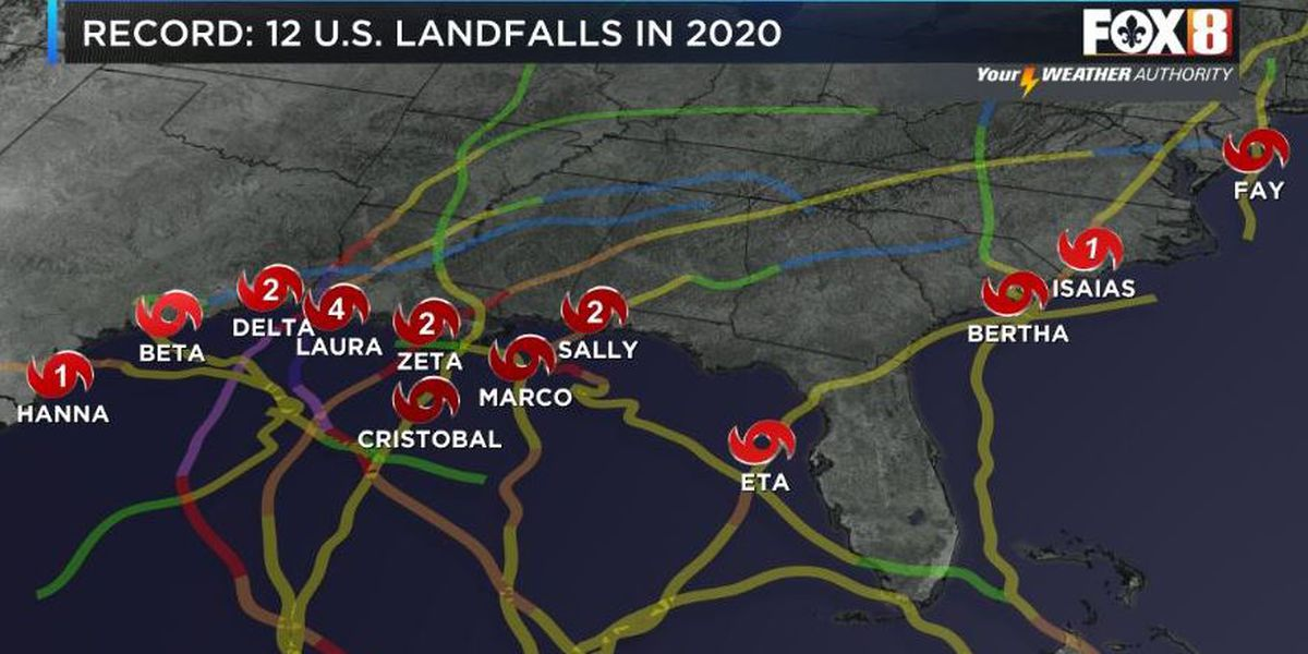 2020 hurricane season comes to an end; 30 named storms breaks record