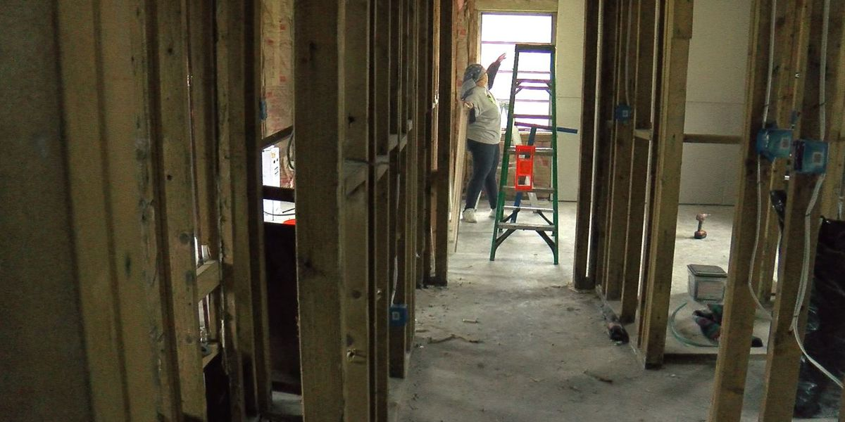 Progress being made with repairs at flooded home of elderly veteran, wife