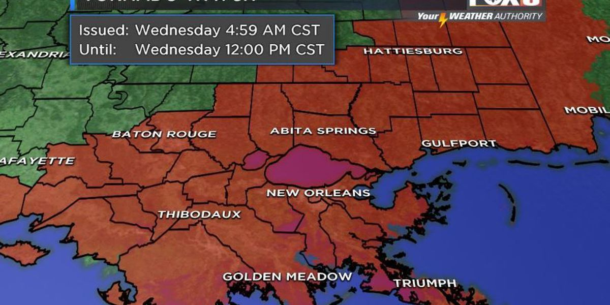 Your Weather Authority: Tornado watch issued for southeast Louisiana, coastal Mississippi