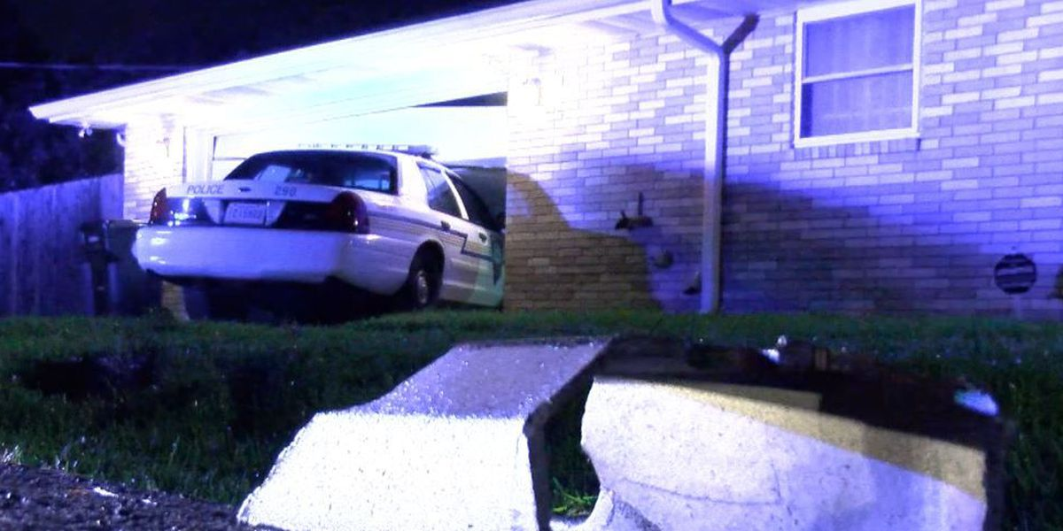 Gretna Police car crashes into home during chase; homeowner questions NOPD response time