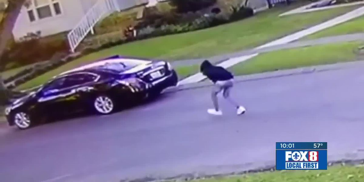 Thief steals car while owner puts air in tires