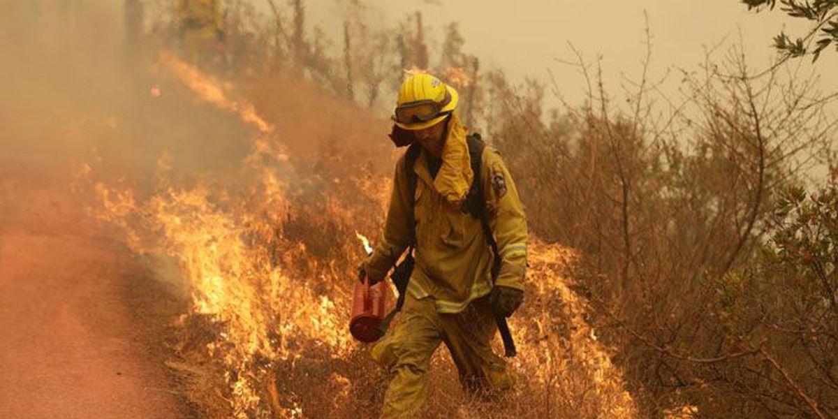 Photos: The giant Thomas fire superimposed over Louisiana cities