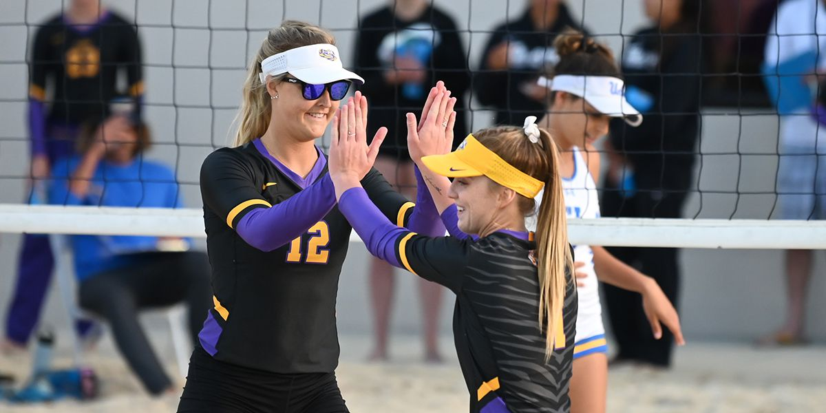 LSU beach volleyball ranked No. 1