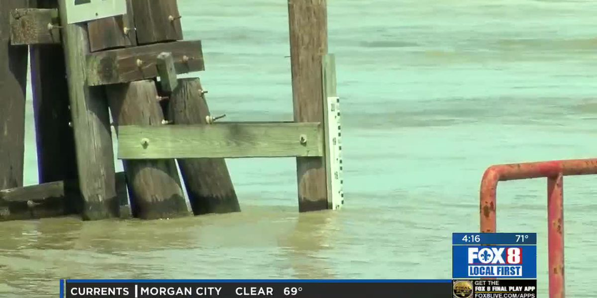 High waters in the Mississippi cause concern for businesses along Convention Center Blvd.