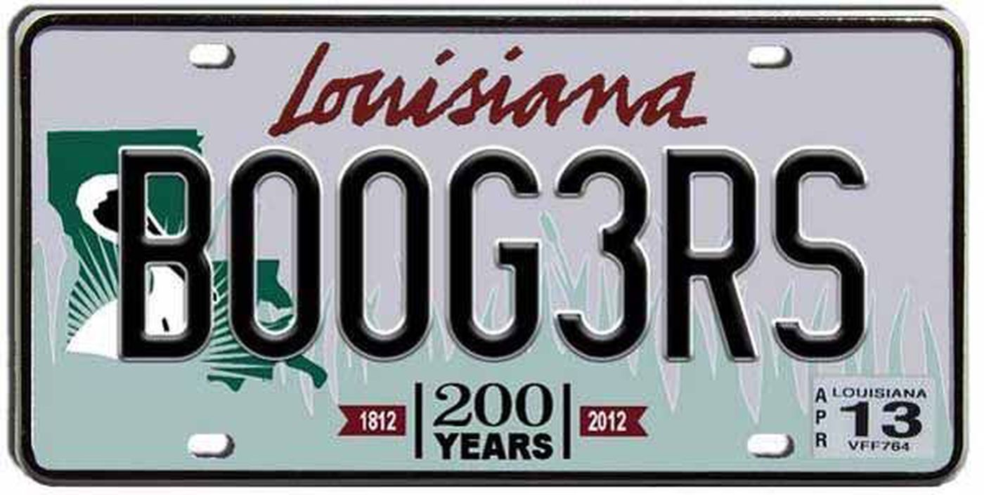 100 Banned Louisiana License Plates