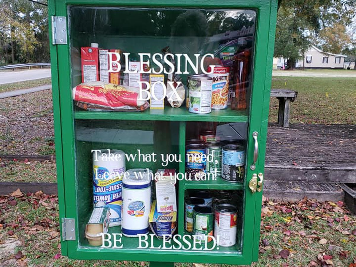 Family builds 'Blessing Box' for community members to take what they need, leave what they can