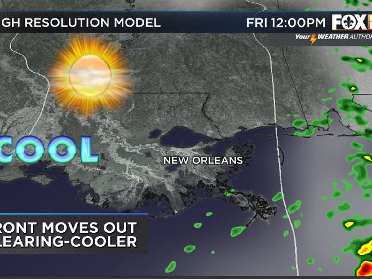 Bruce: Showers tonight as a front arrives-Cooler drier days ahead