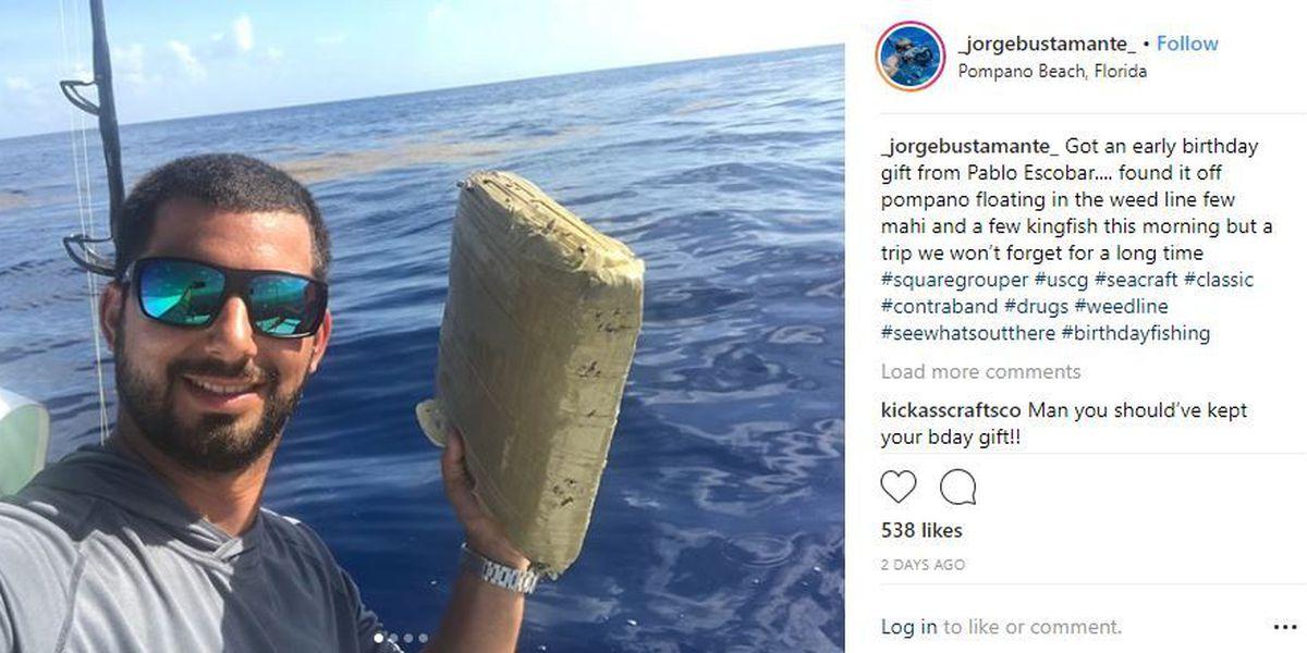 Fisherman reels in brick of marijuana off FL coast