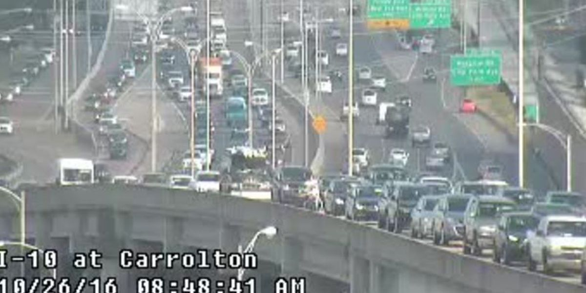First Alert Traffic: Accident I-10 west blocks right lane at Carrollton