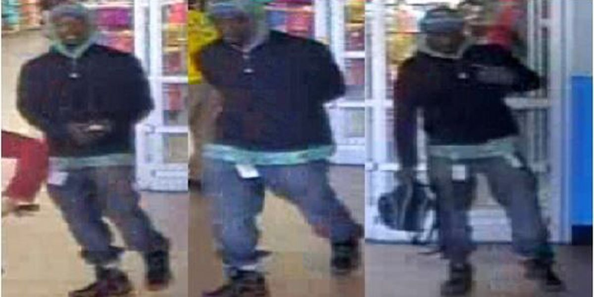 Police look for a man who snatched a worker's purse from a Walmart