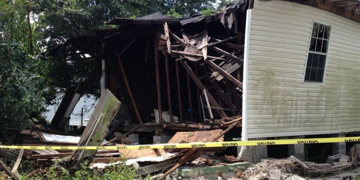 Collapsed Delachaise home was slated for demolition, city says