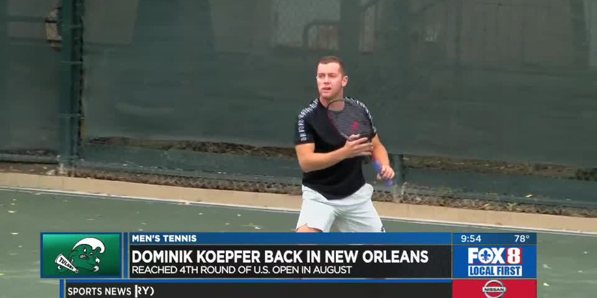 Tulane tennis great Dominik Koepfer returns to the city for exhibition match at NOLTC