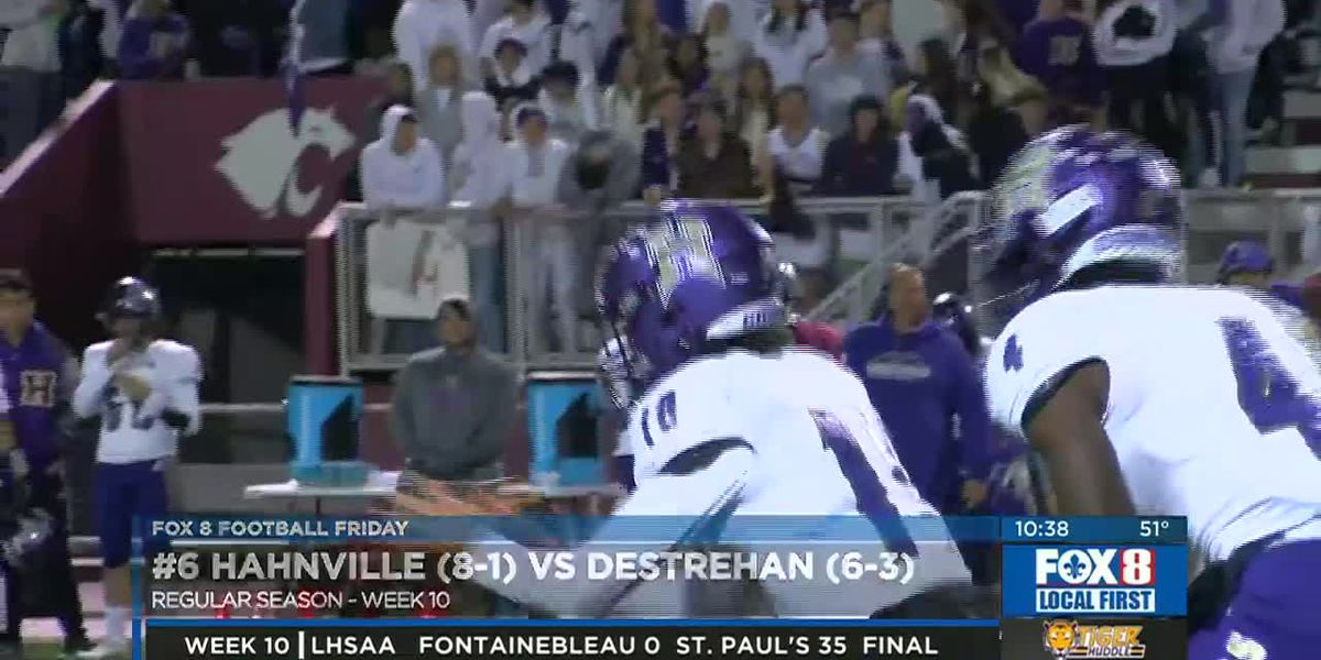 Hahnville and Destrehan face off in a huge rivarly game